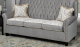 Crystal Tufted Grey Couch with Nailhead Details,OAK-1100