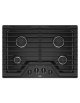 Whirlpool 30-inch Gas Cooktop with EZ-2-Lift™ Hinged Cast-Iron Grates,WCG55US0HB