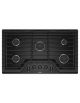 Whirlpool 36-inch Gas Cooktop with EZ-2-Lift™ Hinged Cast-Iron Grates,WCG55US6HB