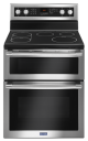 Double Oven Electric Range MAYTAG 30-Inch Wide YMET8800FZ,YMET8800FZ