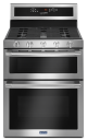 MAYTAG®  6.0 CU. FT. 30-INCH WIDE DOUBLE OVEN GAS RANGE WITH TRUE CONVECTION,MGT8800FZ