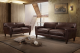Brown Leather 3 Pc Sofa Set IF05 -8900,IF-8900