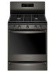 Black Stainless Wfg775h0hv Gas Range With Frozen Bake Function 5.8 Cu. Ft.,WFG775H0HV