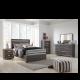 Grey Wooden Queen Size Bedroom Set,ASHLEY_QUEEN_BED_B132