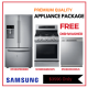 SAMSUNG APPLIANCE PACKAGE - FREE DISHWASHER WITH REFRIGERATOR AND STOVE,RF28HFEDBSR NX58M6650WS DW8033020US
