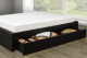 Queen Platform bed with side drawer for storage TI21 -R189,TI21 -R189