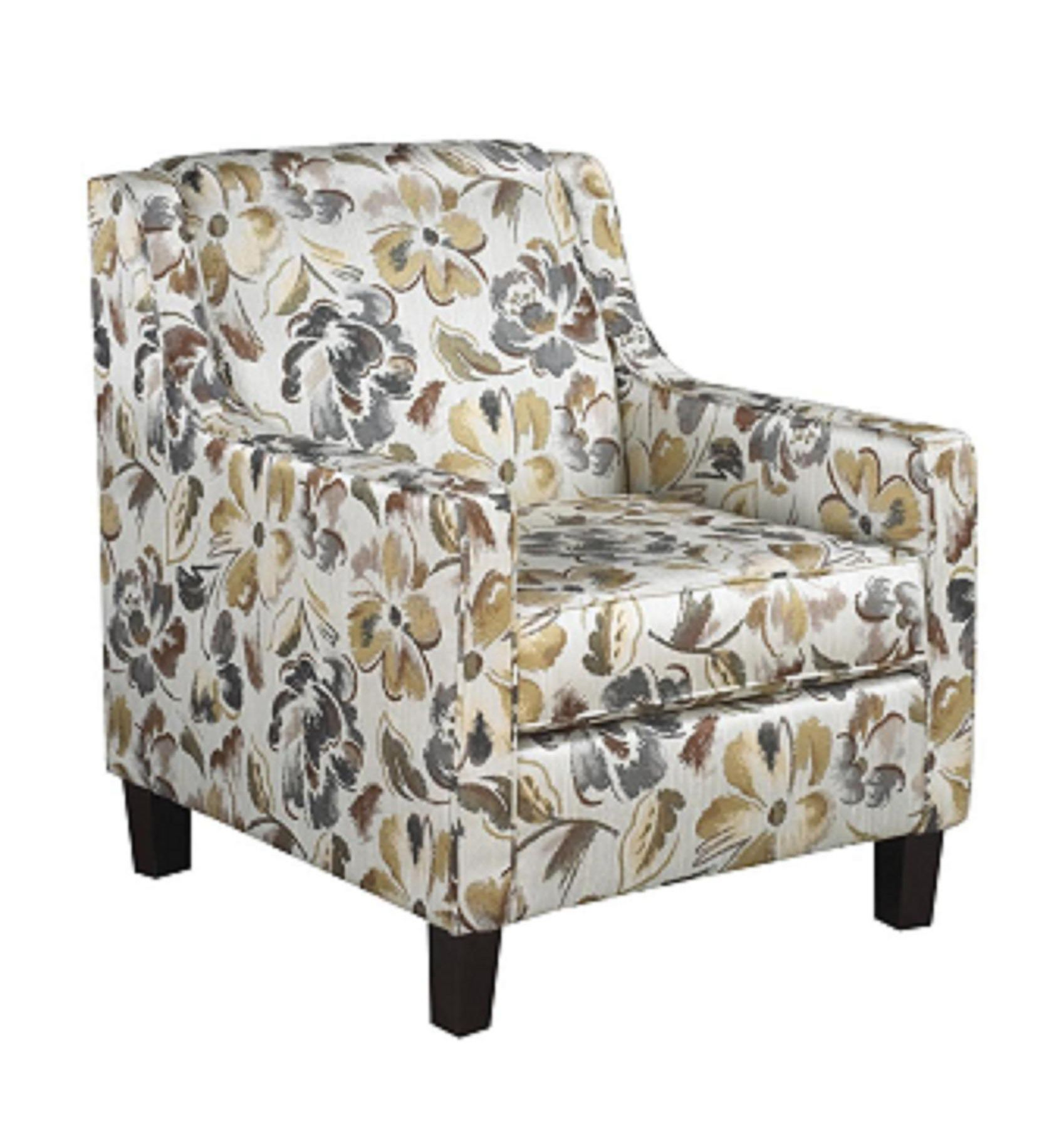 Canadian Made Fabric 3350 Multi Color Floral Print Accent Chair