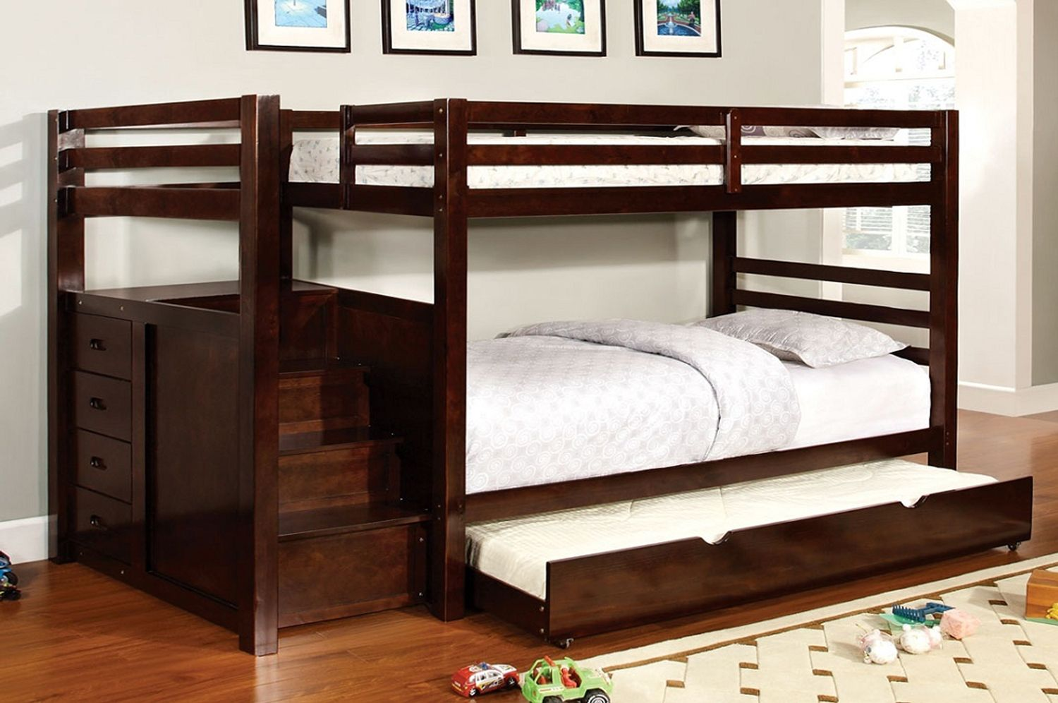Picture of: B 118 Staircase Bunk Bed With 4 Storage Drawers