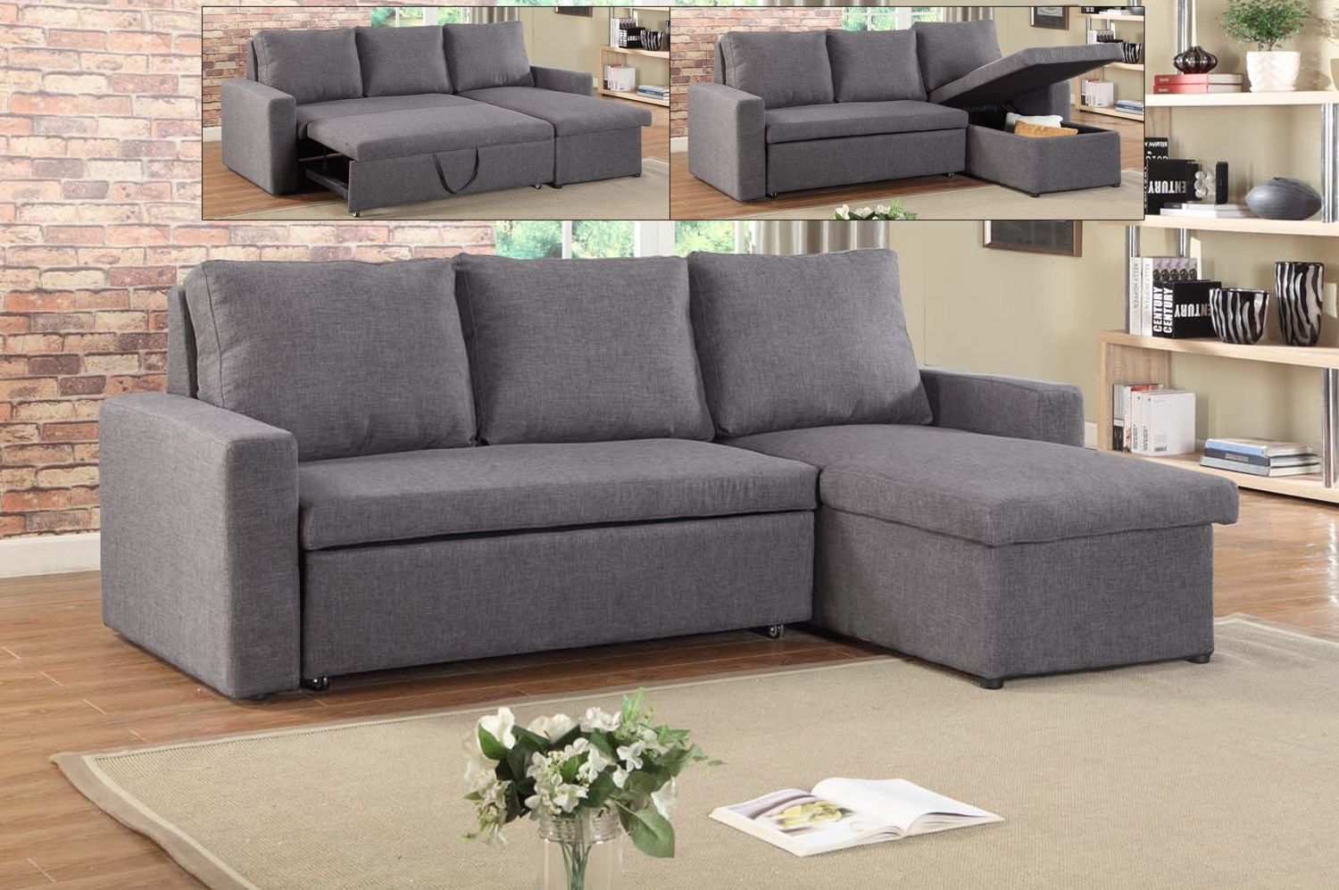 Picture of: If 9000 Sectional Sofa Bed With Reversible Chaise